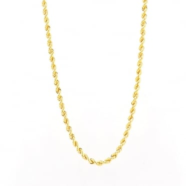 9ct Gold 18'' Rope Chain