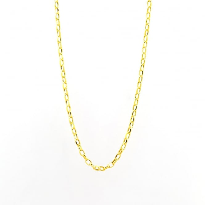 9ct Gold 20'' Oval Diamond Cut Belcher Chain