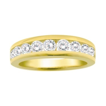 9ct Gold Channel Set 1/2 Carat Diamond Eternity Ring