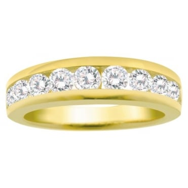 9ct Gold Channel Set 3/4 Carat Diamond Eternity Ring