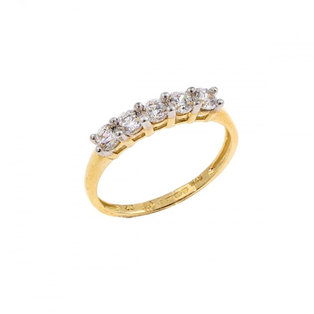 Eternity 9ct Gold Cubic Zirconia Eternity Ring Size R Jewellery From Eternity The Jewellery Store Uk