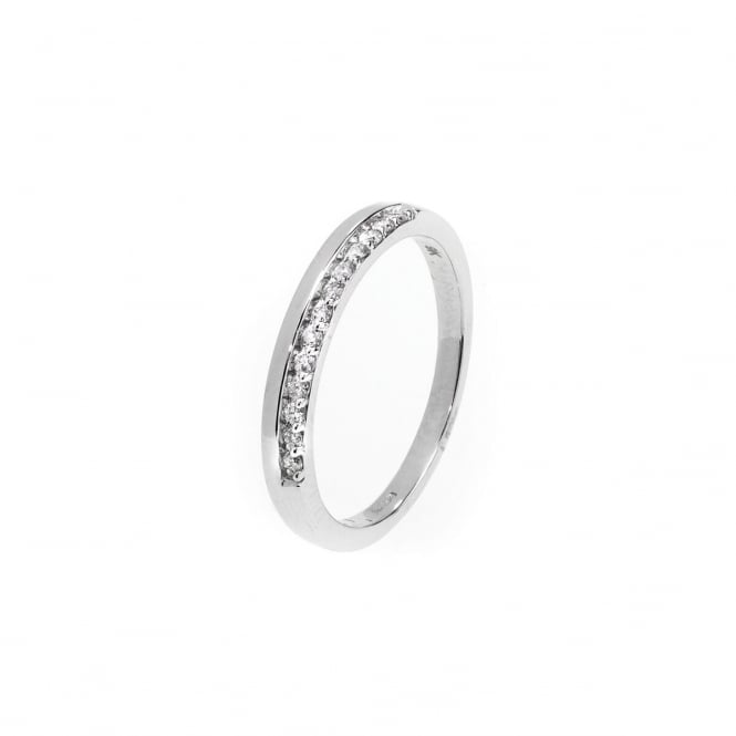 Eternity 9ct White Gold Diamond 1/2 Ring