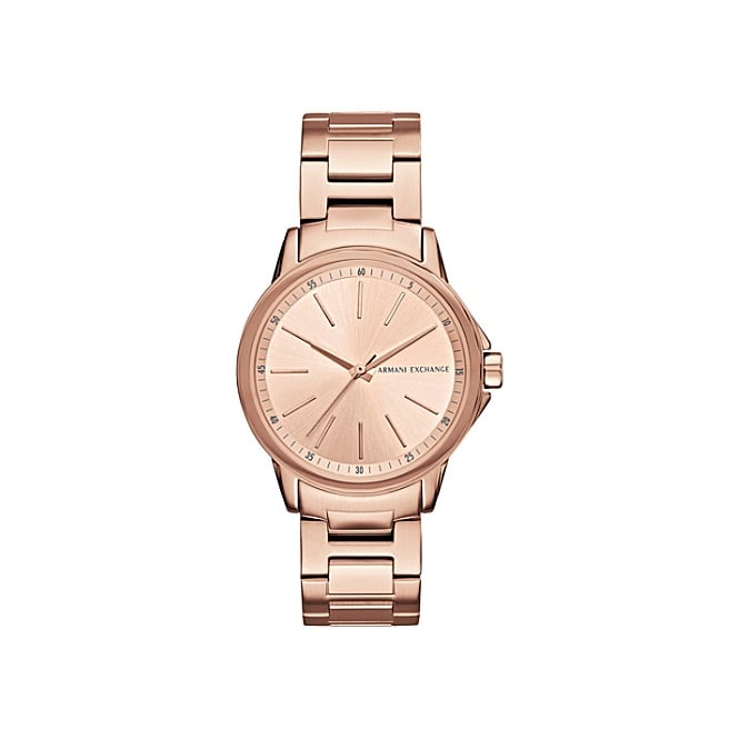 Armani Exchange Ladies 'Lady Banks' Round Rose Dial with a Rose Bracelet