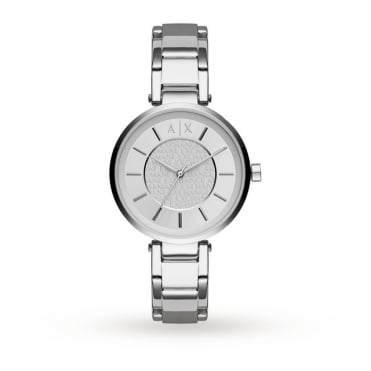 Ladies Olivia Round Silver Dial with a Stainless Steel Bracelet