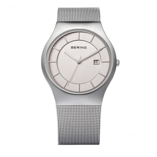Bering Mens Stainless Steel Mesh Strap Watch