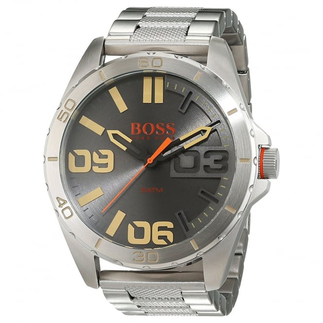 Boss Mens Berlin Round Grey dial with a Stainless Steel Bracelet