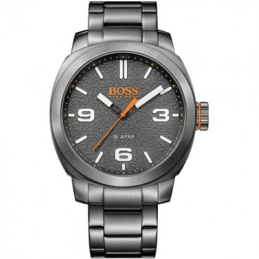 Boss Orange Mens Cape Town Grey Stainless Steel Ionic Finish Bracelet Watch
