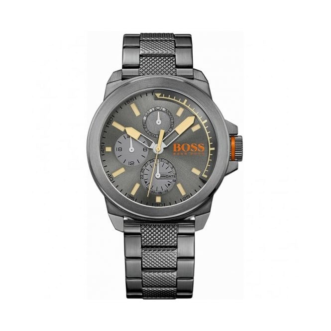Boss Orange Mens Grey Ion Plated Chronograph Watch