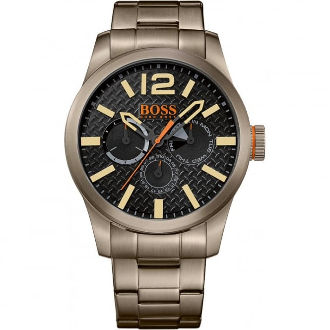 Boss Orange Mens Multi Dial Grey Bracelet Watch