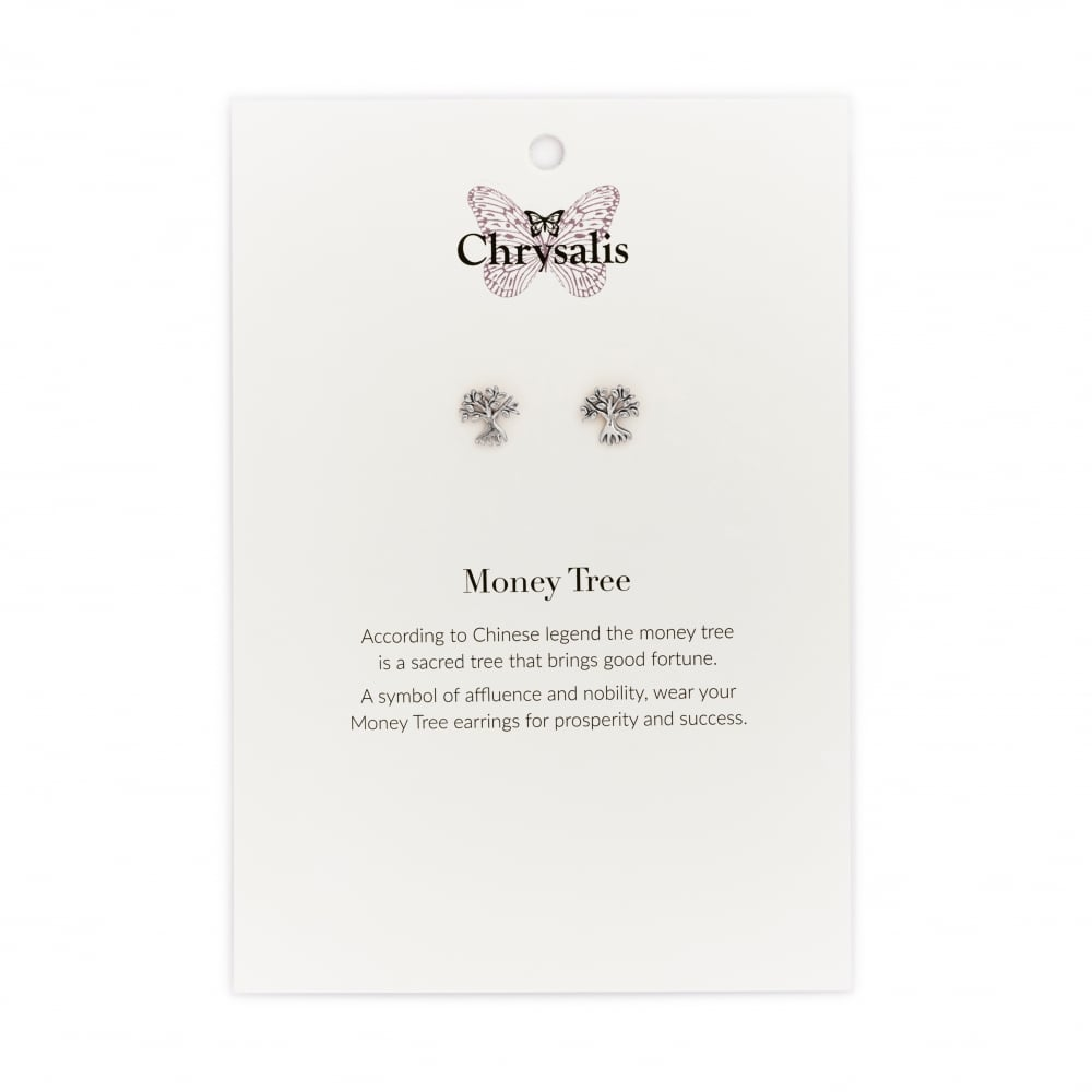 Chrysalis Rhodium Plated Money Tree Earrings Jewellery From