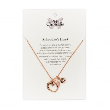 Rose Gold Plated Aphrodite's Heart Expandable Necklace