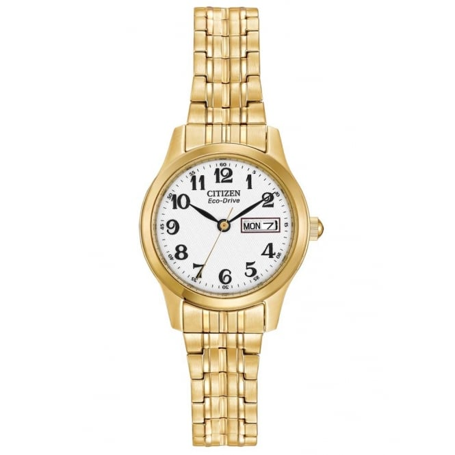 Citizen Eco-Drive Ladies' Gold-Plated Bracelet Watch