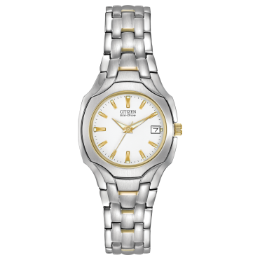 Ladies Eco Drive Round White Dial 2colour