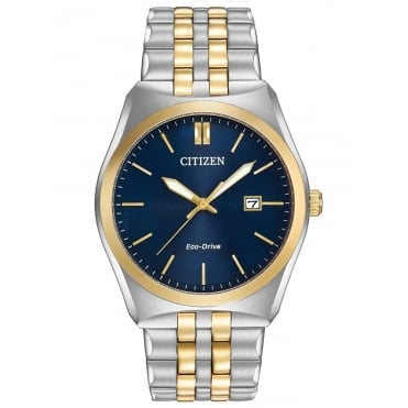 Citizen Mens Eco-Drive Corso Two Tone Watch