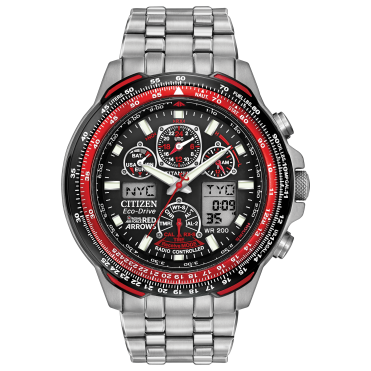 Mens Eco-Drive Red Arrows Skyhawk Round Titanium Bracelet