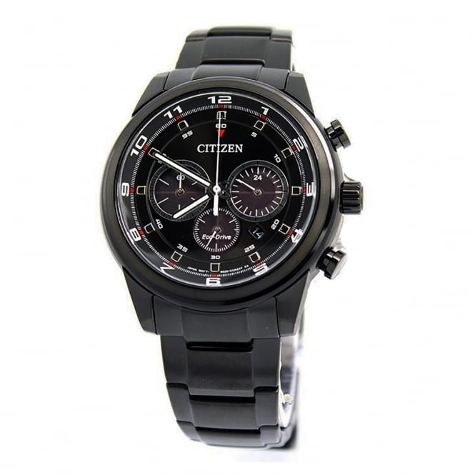 Citizen Mens Eco Drive Round Chronograph Stainless Steel Bracelet Watch