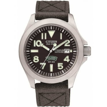 Citizen Mens Eco-Drive Titanium Royal Marines Commando Watch