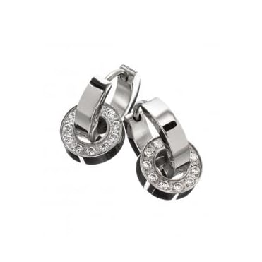 Eternity Orbit Earrings Steel