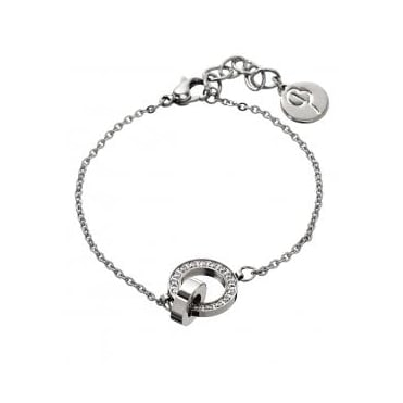 Eternity Orbit Thin Bracelet Steel