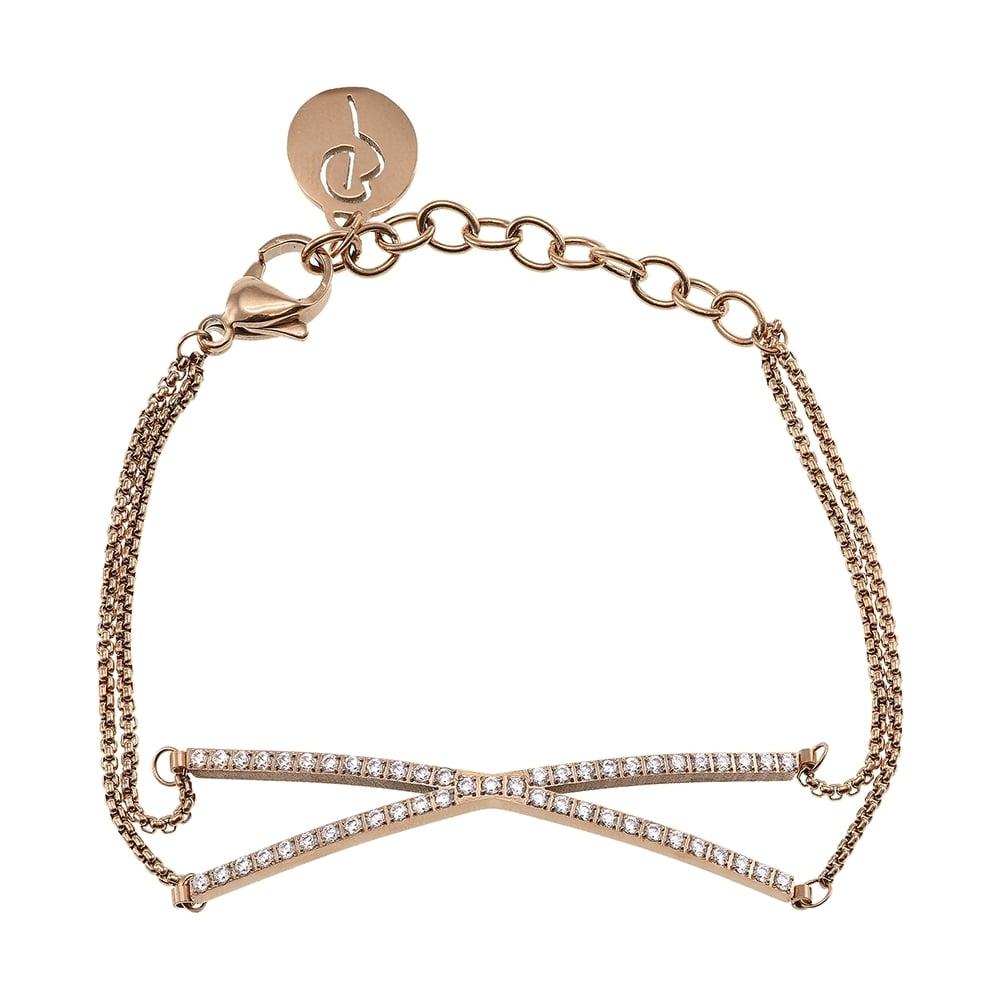 Edblad Glow X Bracelet Rose Gold