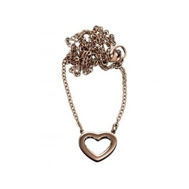 Monaco Heart Rose Gold Plated Short Necklace