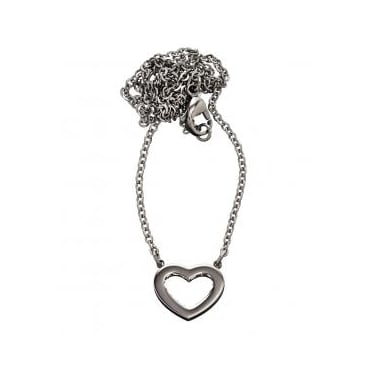 Monaco Heart Short Necklace Steel