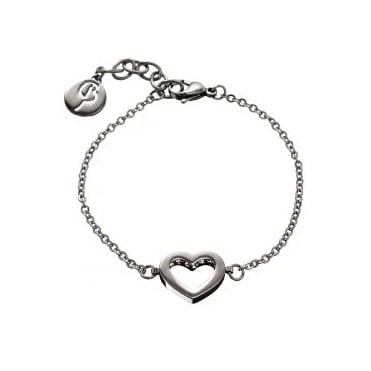 Monaco Heart Thin Bracelet Steel