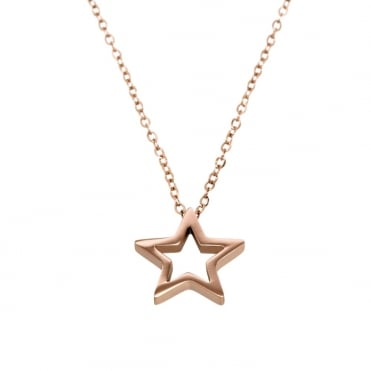 Nova Rose Gold Plated Star Necklace