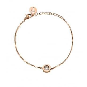 Stella Rose Gold Plated Round Cubic Zirconia Bracelet