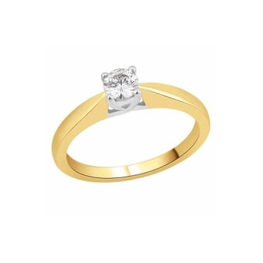 18ct Gold 3/4 Carat Diamond Solitaire Ring