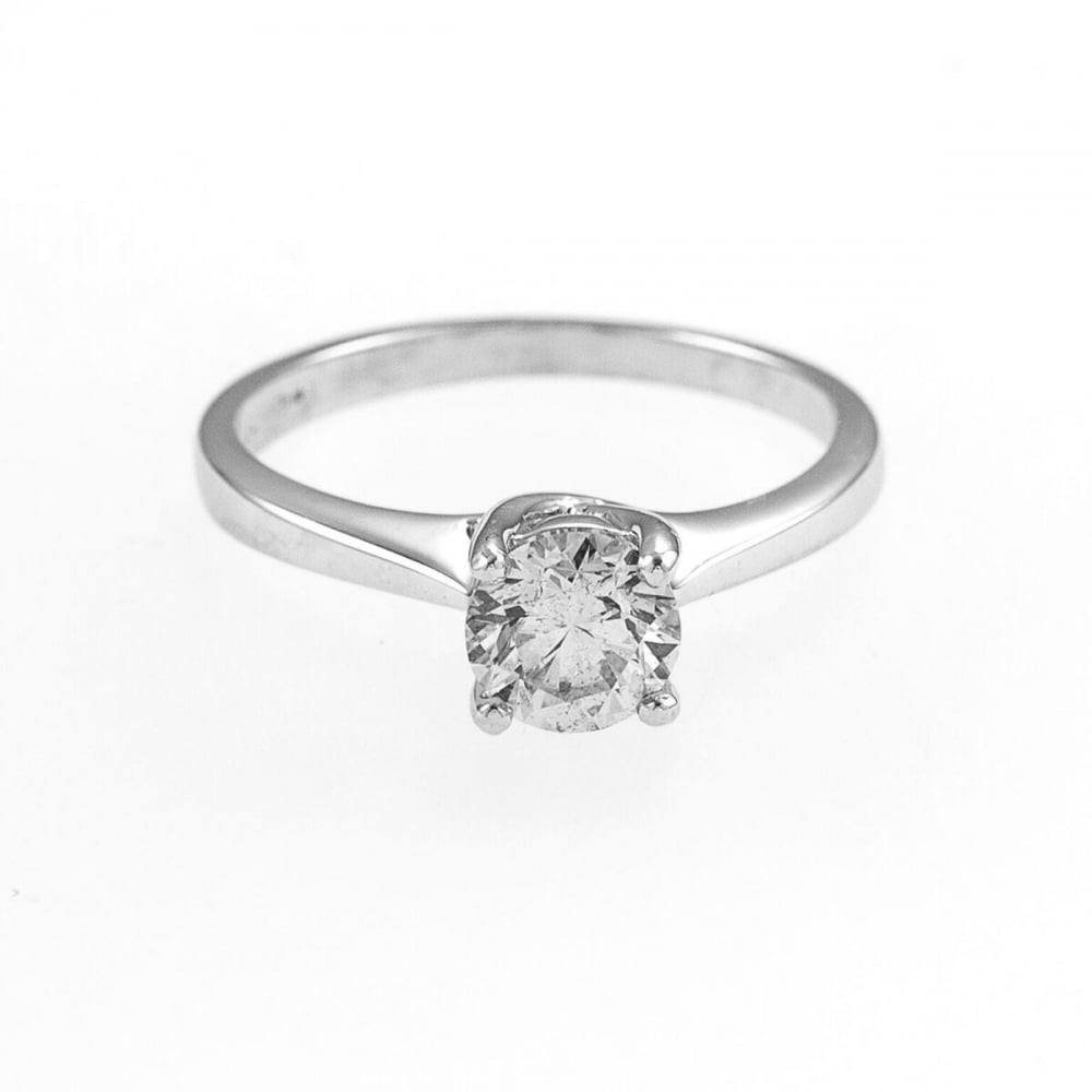 gold engagement solitaire in diamond with jewellery ring white a carat