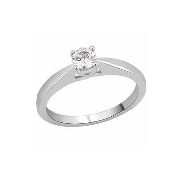 18ct White Gold 3/4 Diamond Solitaire Ring