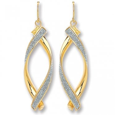 9ct 3 Colour Gold 25mm Creole Earrings RRP £79.99