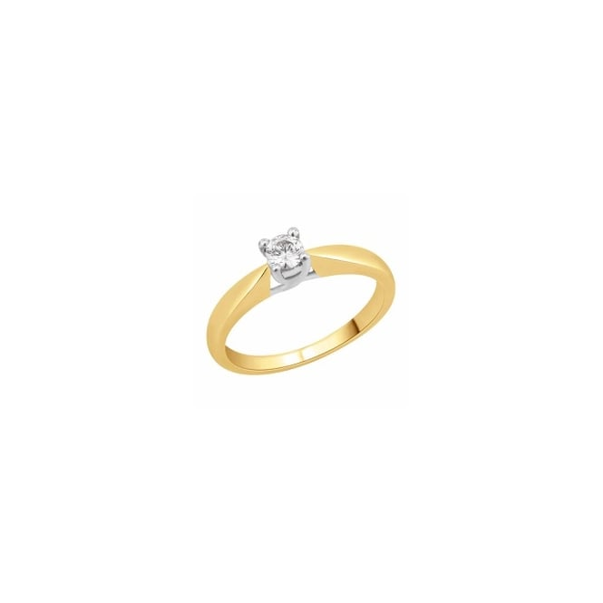 Eternity 9ct Gold 1/3 Carat Diamond Solitaire Ring