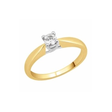 9ct Gold 1/4 Carat Diamond Solitaire Ring