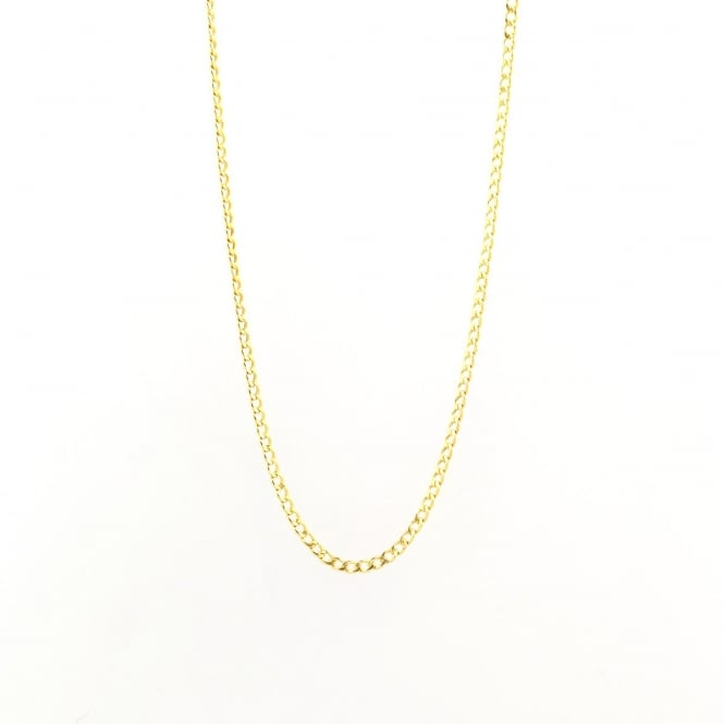 Eternity 9ct Gold 16'' Curb Chain