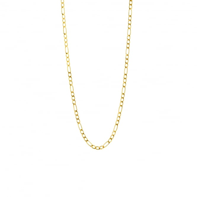 Eternity 9ct Gold 18'' 3 + 1 Figaro Chain