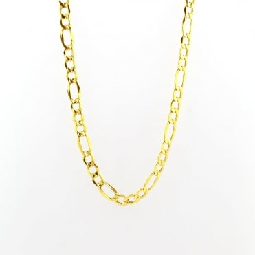 9ct Gold 18'' 3 + 1 Figaro Chain