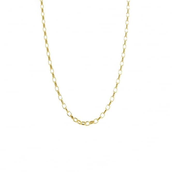 Eternity 9ct Gold 18'' Small Diamond Cut Belcher Chain