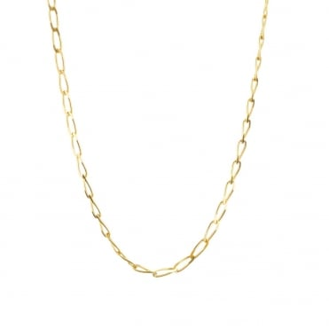 9ct Gold 20'' Diamond Cut Rada Curb Chain