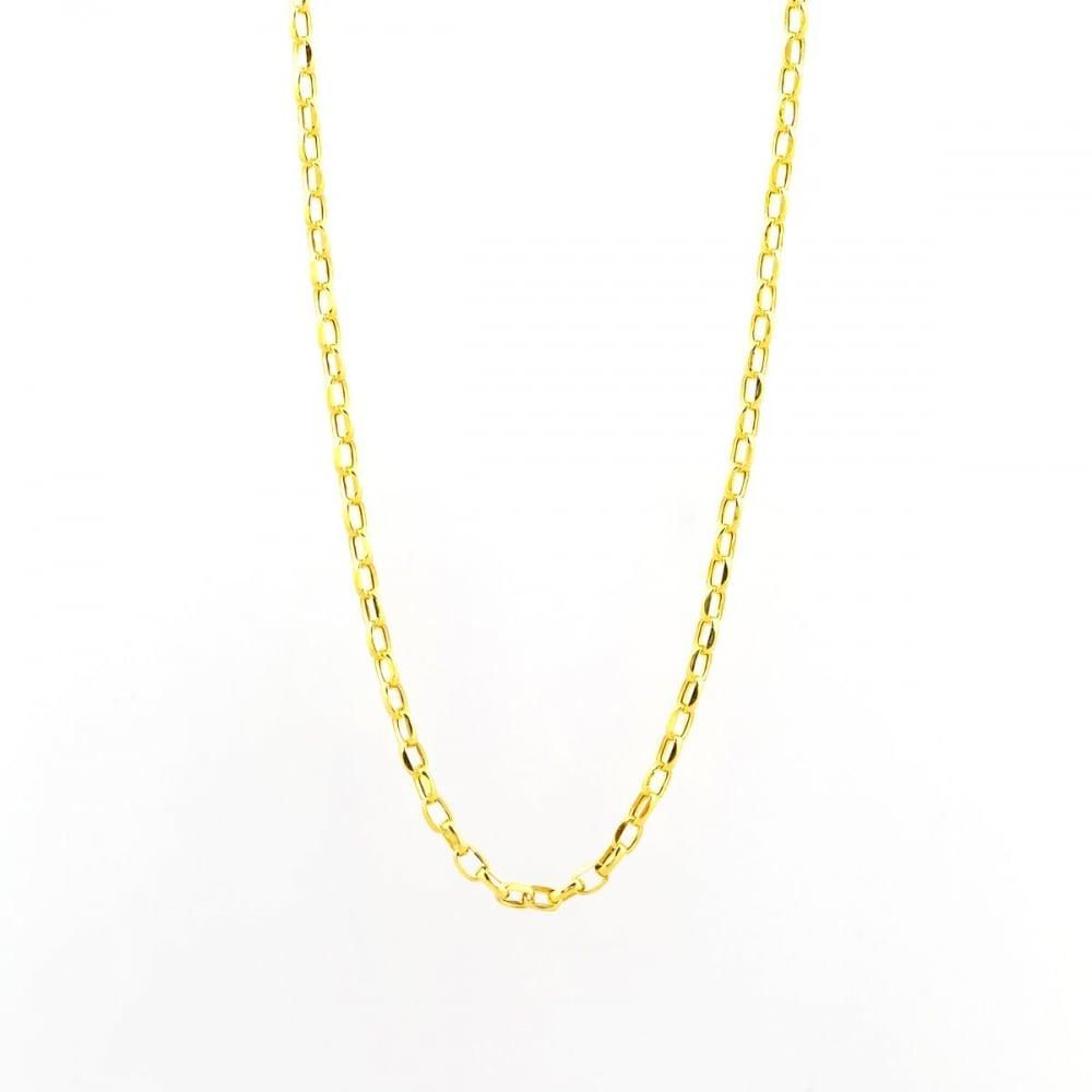 Eternity 9ct White Gold 20/'/' Diamond Cut Belcher Chain