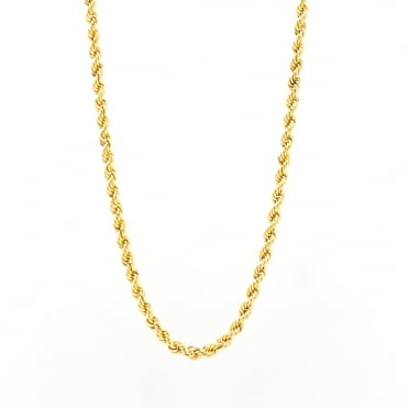 9ct Gold 20'' Rope Chain