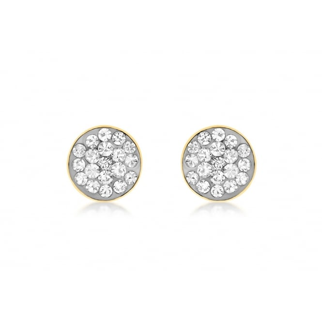 Eternity 9ct Gold 6mm Round Pave Cubic Zirconia Stud Earrings