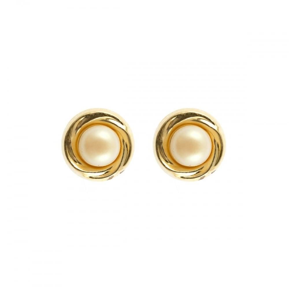 68c460cb5 Eternity 9ct Gold 7mm Pearl in Gold Stud Earrings - Jewellery from ...