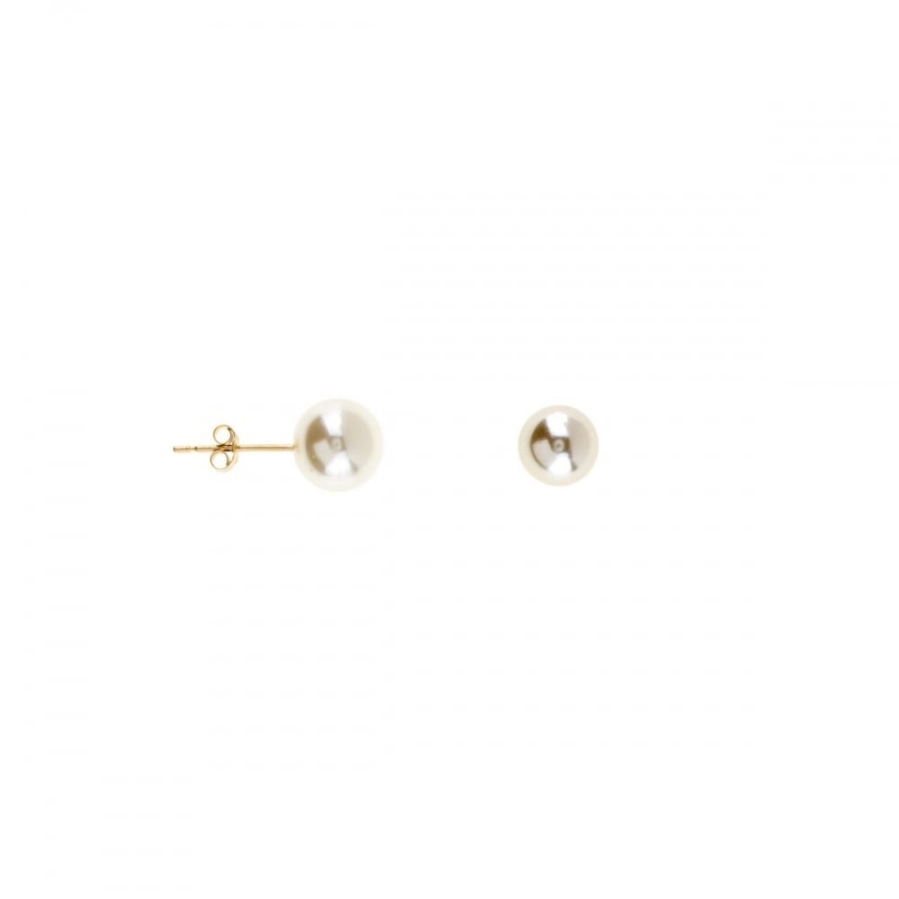 earrings yg freshwater pearl stud a peach