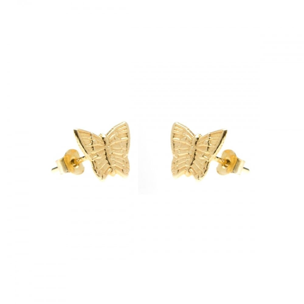 4449bdf33 9ct Gold Butterfly Stud Earrings