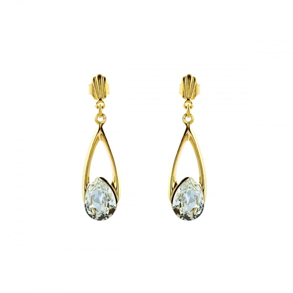 3124628e91e95 Eternity 9ct Gold Crystal Drop Earrings