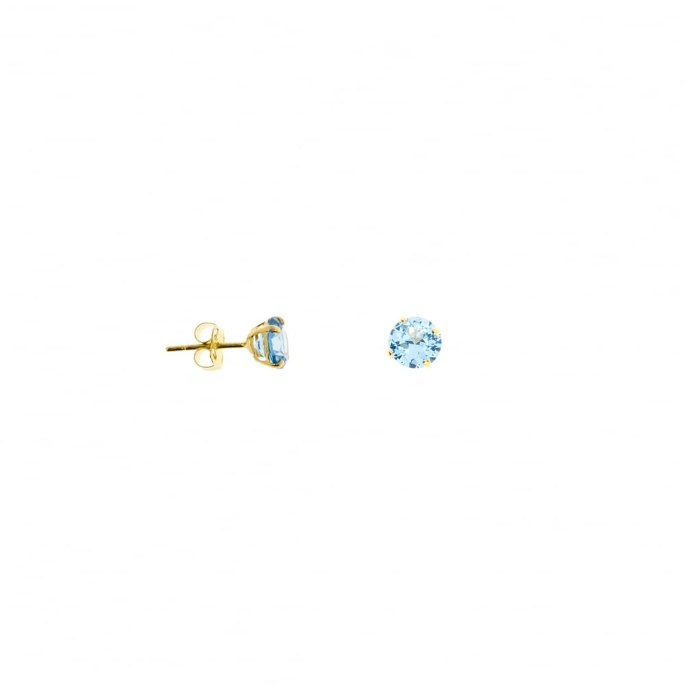 earrings marine image gemstone stud round white jewellery aquamarine aqua gold