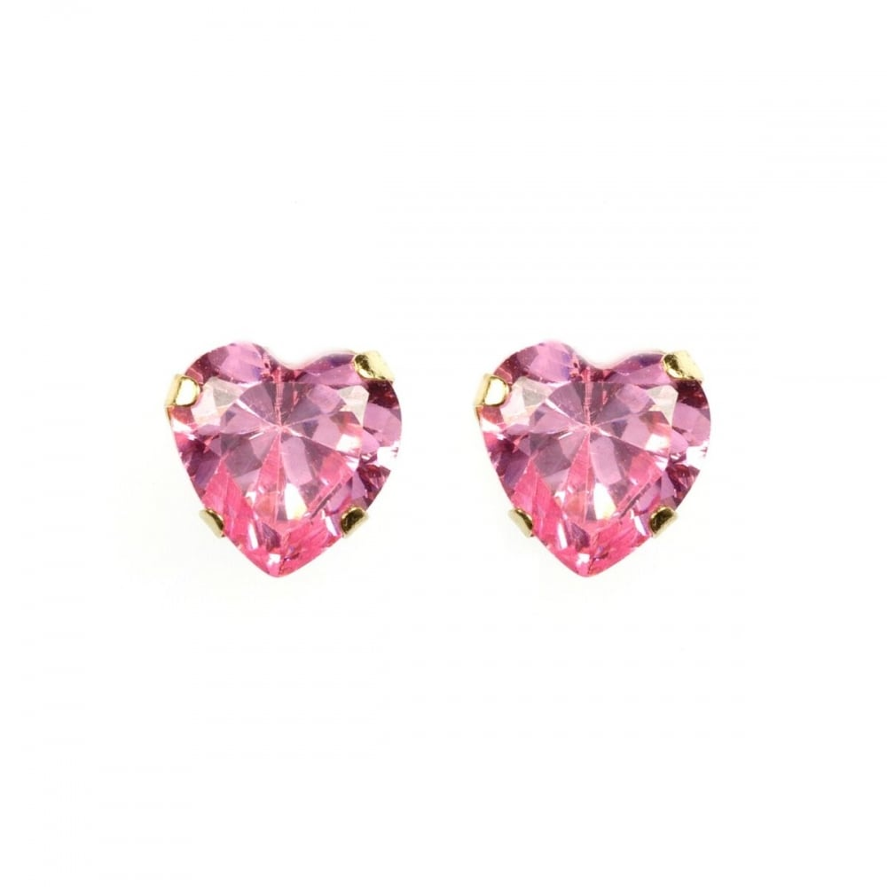 sapphire new white heart earrings shaped image stud pink gold jewellery