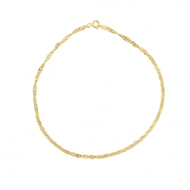 9ct Gold Singapore Anklet